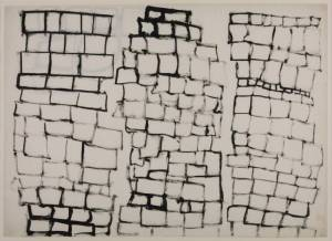Organic Exercise No. 3, Series No. 2 (Tower Block Drawing) 1962 by Stephen Willats born 1943